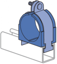 """1/4"""" thru 6-1/8"""" Cush-A-Clamp Assembly Pipe/Tube Clamp (1-5/8"""" Series)"""