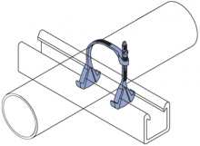 F200 Series - Standard Duty Polyurethane Adjustable Pipe Clamps