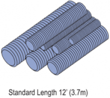 "Steel Threaded Rod (1-5/8"" Series)"